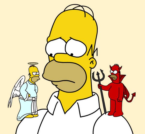 homer simpson devil god