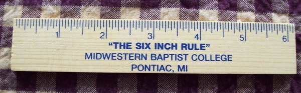 the six inch rule midwestern baptist college