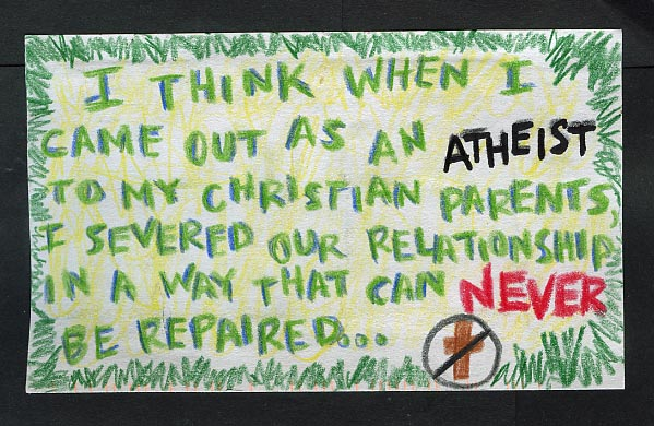 coming out as an atheist